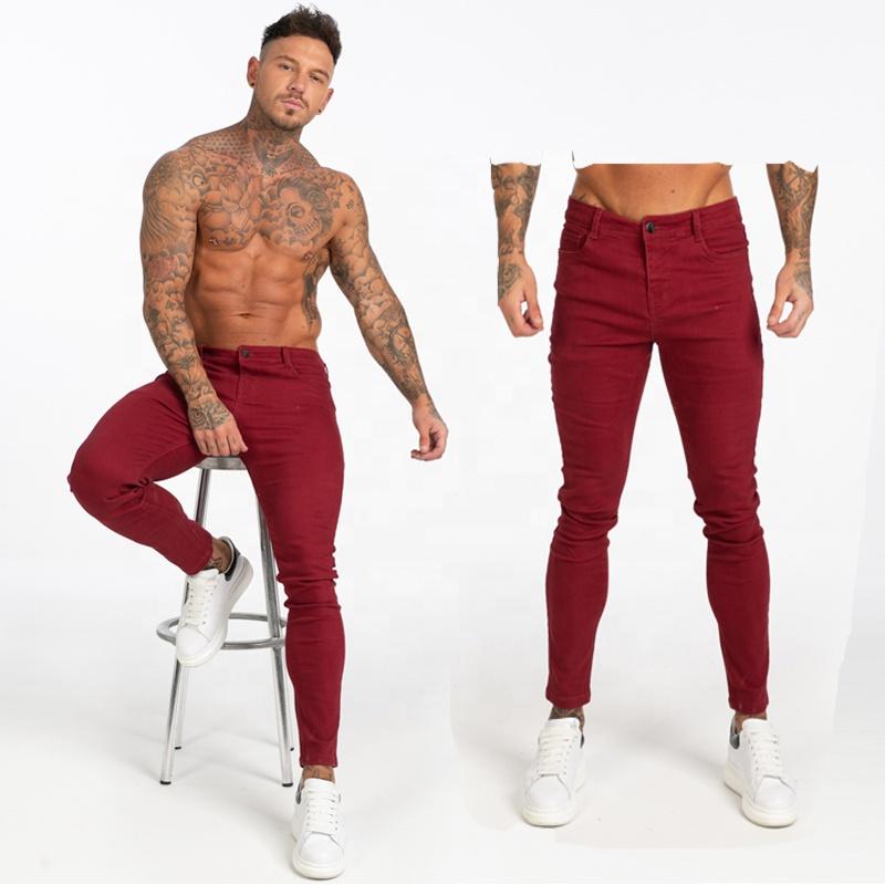 De Los Hombres Flacos No Destripador Jeans Cintura Medio Rojo Pantalones Vaqueros De Mezclilla Pantalones Hombre Slim Fit Pantalones Largos Pantalones Plus Tamano Buy Pantalones Vaqueros Ajustados Para Hombre Pantalones Vaqueros Rojos