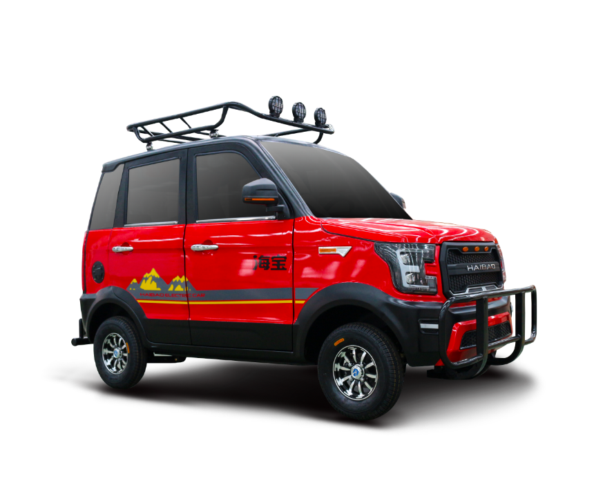 Fat tire 4 wheels right hand drive 72v 100ah solar electric car city drive for pick up children