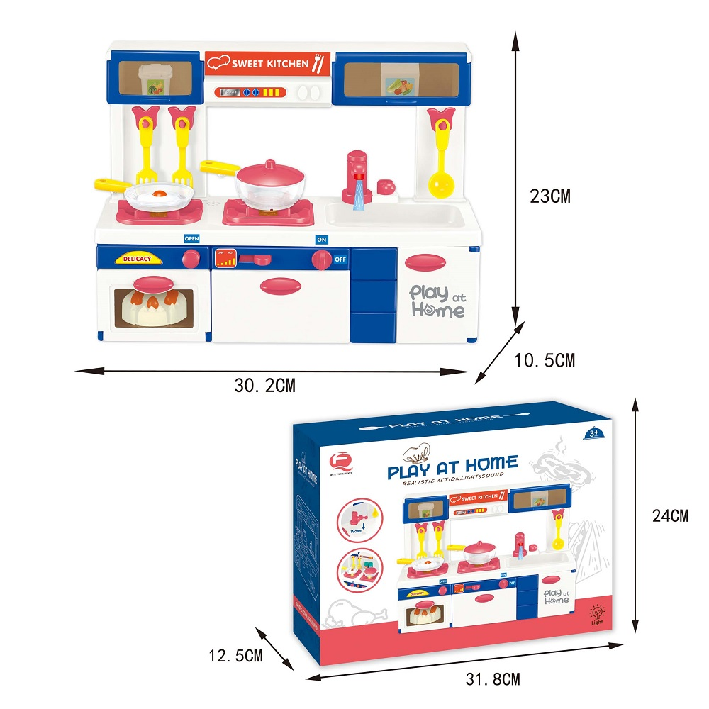 Wholesale Mini Electric Plastic Kitchen Sink Water Spray Toys With Sound Lighting Kitchen Set