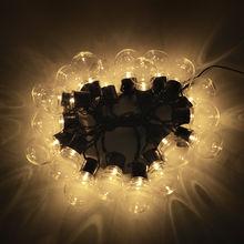 2,5 м 5 м наружная Водонепроницаемая настенная лампа 10/20 светодиодов ламповая гирлянда ЕС вилка AC 220 В порошковый садовый светильник для ландш...(Китай)