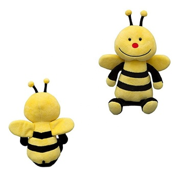 Customized soft bumble bee stuffed plush honeybee Flying Stuffed Toy With Wings