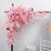 प्रकाश गुलाबी 1.2m x 1.2m त्रिकोण फूल