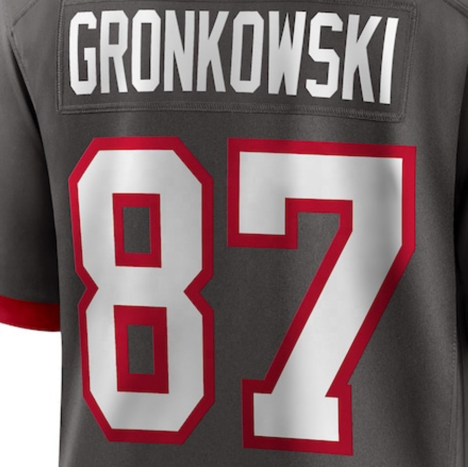 Rob Gronkowski Gray 2020 New Best Quality Stitched American ...