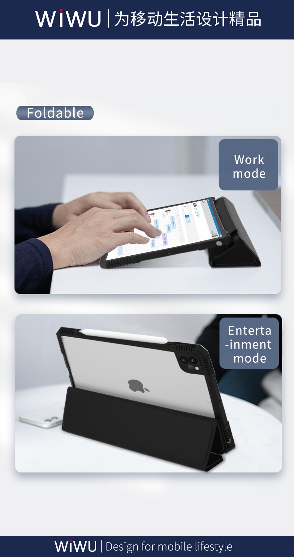 WiWU Smart Auto-sleep Tablet Case with TPU Shockproof Tablet