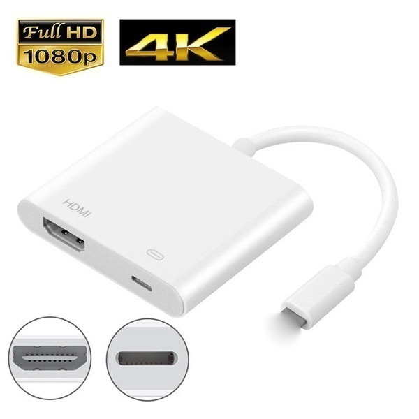 2021 drop shipping hot sell Digital AV TV HDMI-Cable Adapter with Lighting Charging Port for iPad iPhone