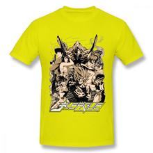 Ретро дизайн японского аниме Saint Seiya Son Goku ковбойская футболка Bebop Himura Kenshin YuYu Hakusho Классическая футболка с героями мультфильмов(Китай)