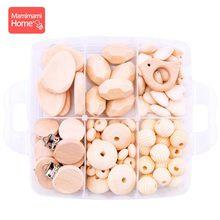 1 комплект, детский прорезыватель, набор деревянных бусин, сделай сам, подарок ко дню рождения, пустышка, цепочка, подвеска, деревянная пуста...(Китай)