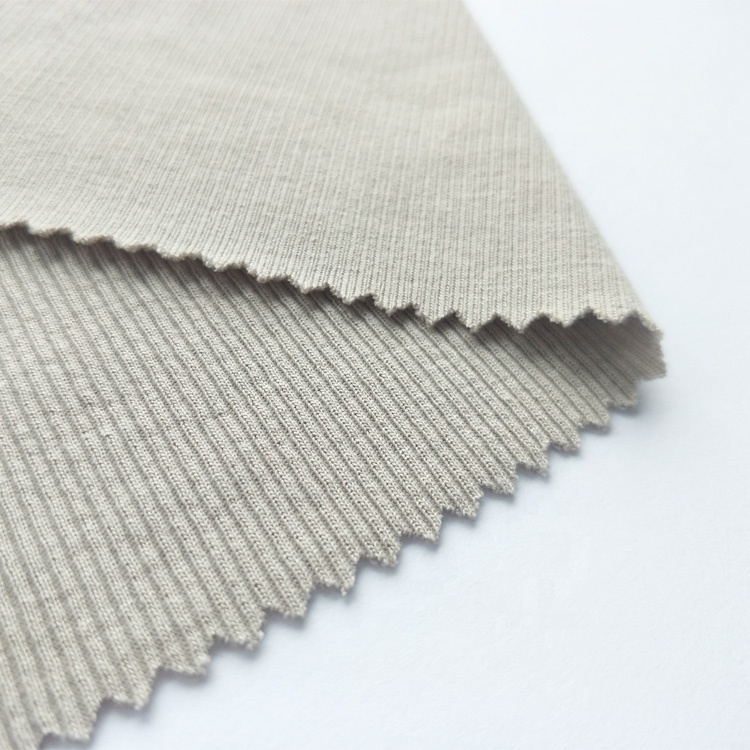 High quality 95% polyester 5% spandex stretch rib knitted fabric