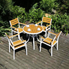 PS006 horizontal teak chair 80 classic plastic wood table