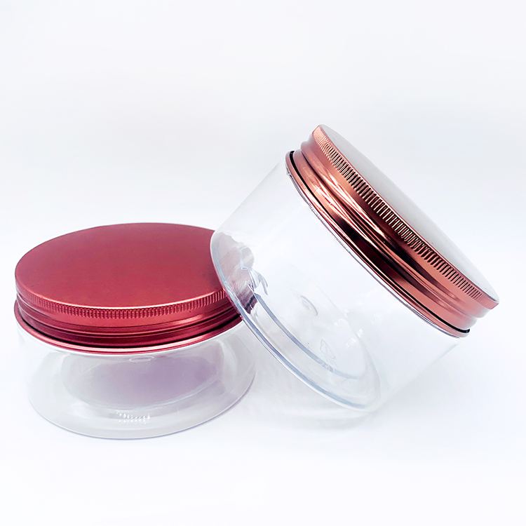 Yueyi Cosmetic Face Cream Plastic Container PET 200ml 250ml 300ml 6oz 8oz Plastic Jar With Lids Can Customized Color And Logo