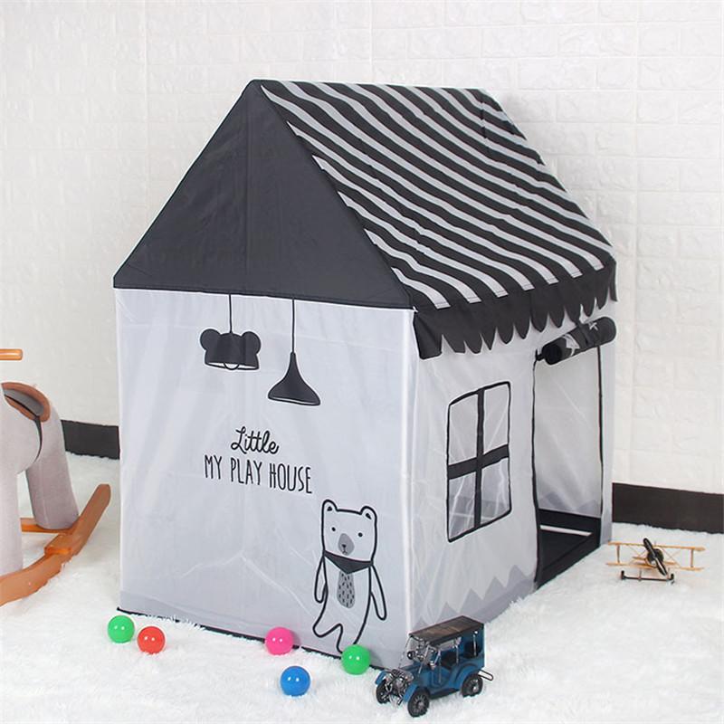 Складная палатка-игрушка, портативная шариковая яма для бассейна, для учеников в помещении и на улице, имитация дома, черно-белая палатка, подарки, игрушки для детей