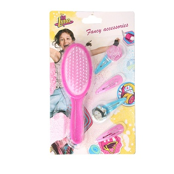 F&J brand kids gifts soy luna hair brush and hair clip set wholesale promotional return gifts for kids