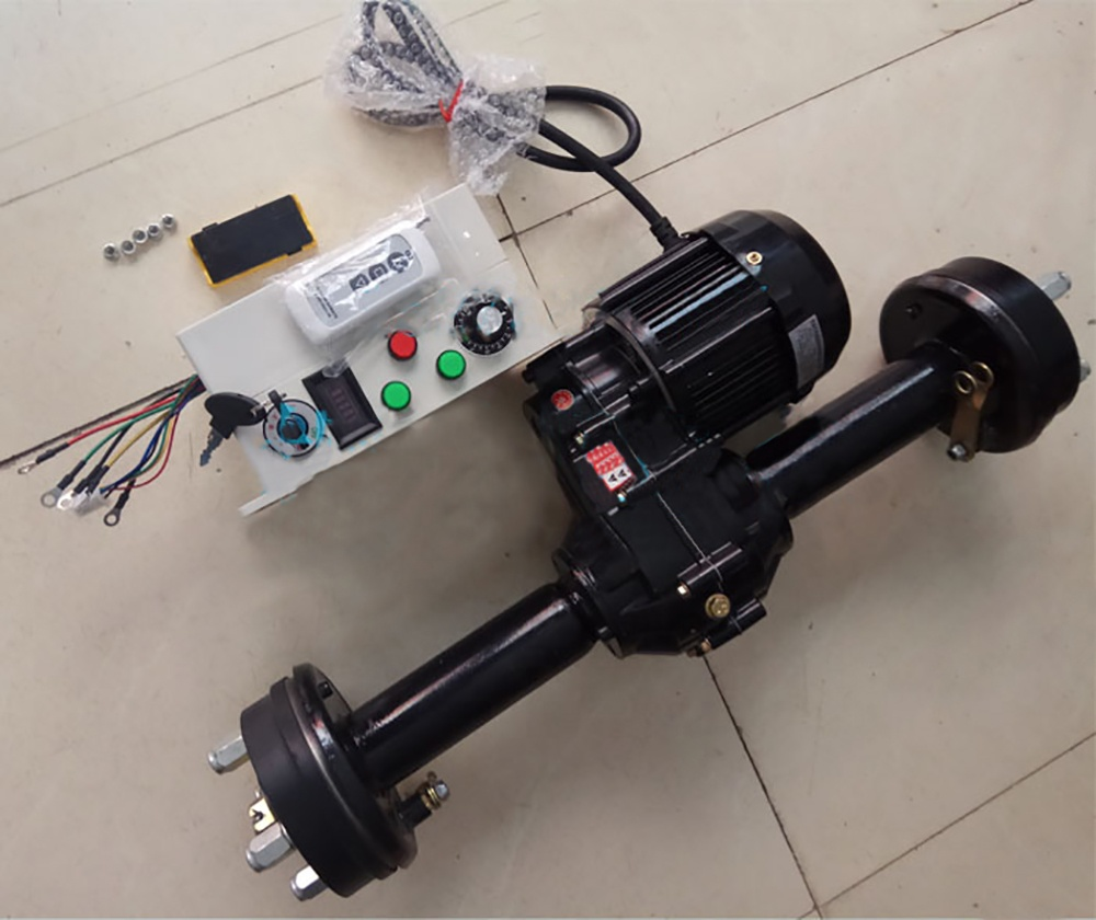 1500w 60v hub motor rear differential axle for tricycle car