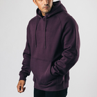 Workout Hoodie Sportswear Mens Fitness Apparel Workout Cotton Purple Oversize Fitness Hoodies