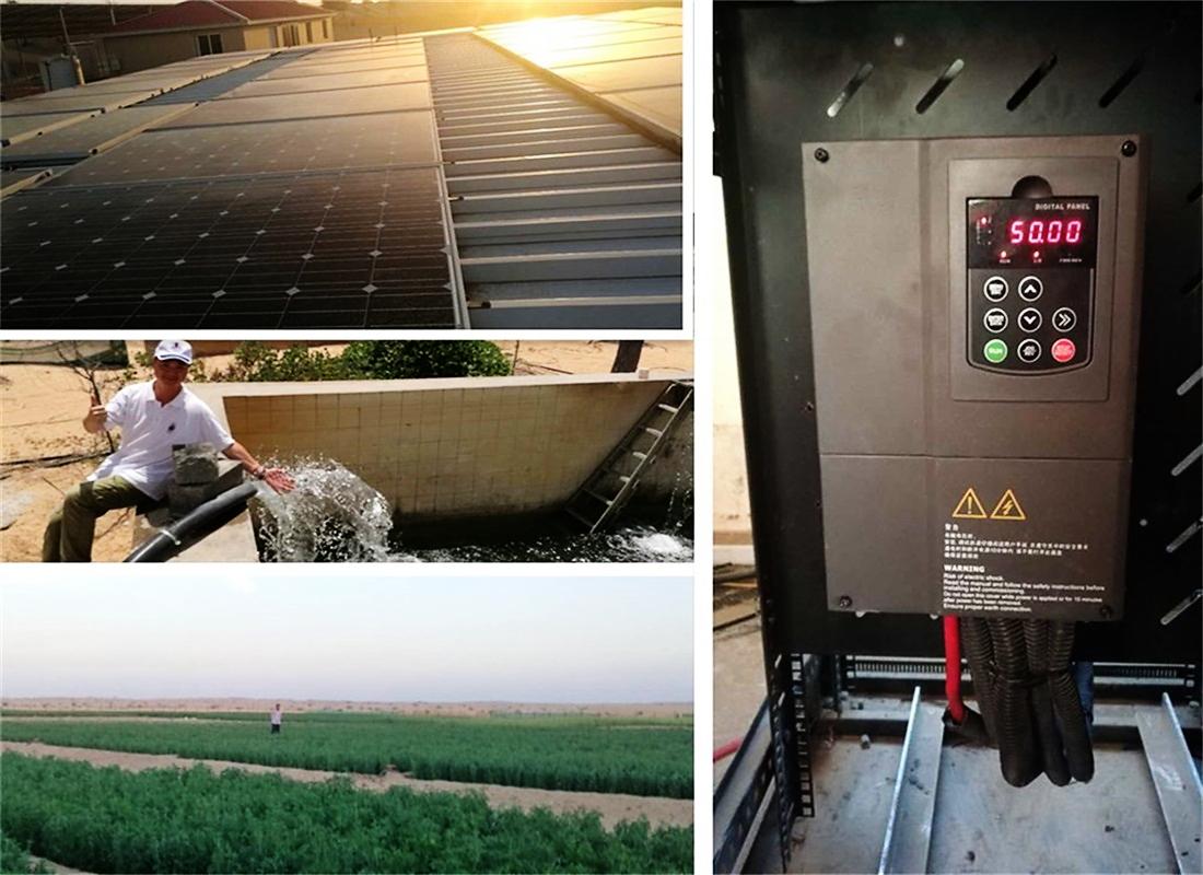Оптовая продажа с фабрики трехфазный со слежением за максимальной точкой мощности, контроль уровня воды 380-415V 5.5KW 7.5KW 11KW 15KW Гибридный солнечный инвертор водяного насоса