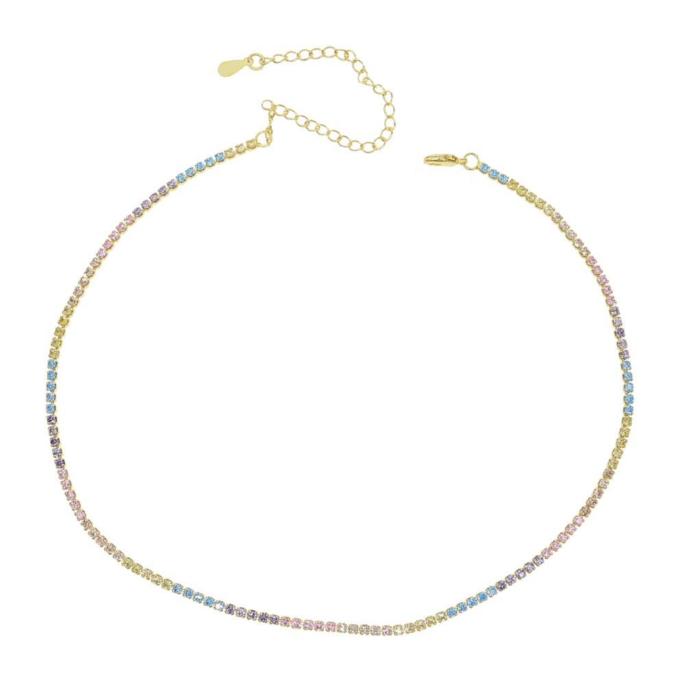 Pastel Rainbow Chain Chokers
