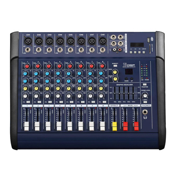 MX802D DJ Mixer 8 Channel USB BT Mixing Console High Power Audio Stage Equipment 48V Phantom Power DSP Digital Effects