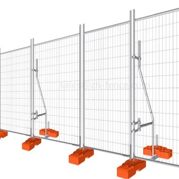 Heavy galvanised construction Temporary Fence with Plastic Concrete feet