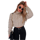 Sweater Full Crop Sweaters Short Autumn And Winter Turtleneck Knit Cropped Short Sweater Pullovers
