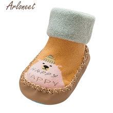 ARLONEET/Обувь для новорожденных и маленьких девочек; Зимние кроссовки с принтом из мультфильма для маленьких мальчиков; Хлопковые нескользящи...(China)