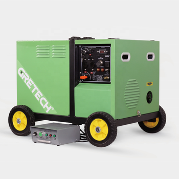 Gretech 5kw silent small ATS controller and patented technology LPG natural gas 2 in 1 generator