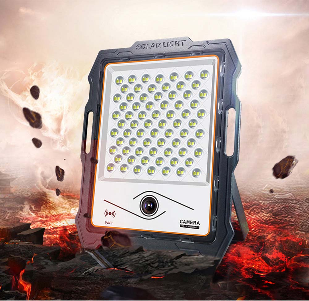 Hot-selling 100W 200W solar led flood light with 360 Degree camera