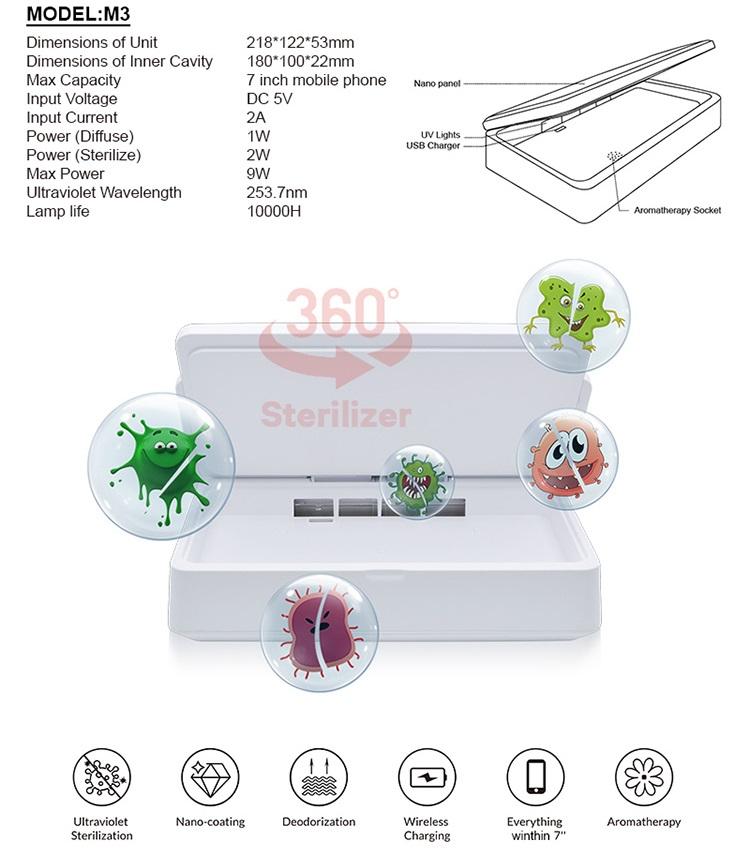 Uv Sterilizer Multi Function Nano Liquid Coating Machine For Mobile Phone With English Voice For Street Vendor