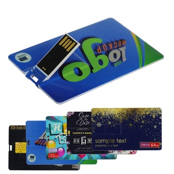 Attractive price Customized business gift logo printing usb flash 16gb 32gb high quality usb flash drive plastic key credit card