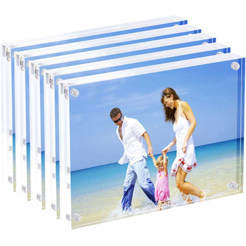 VONVIK Acrylic Frameless Picture Frame Wall Mount 8.5 X 11 Clear Floating Acrylic Photo Frame