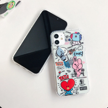 New customizable patterns, bear and Hello Kitty cartoon mobile phone bags for iPhone 11 promax iphone 12 case