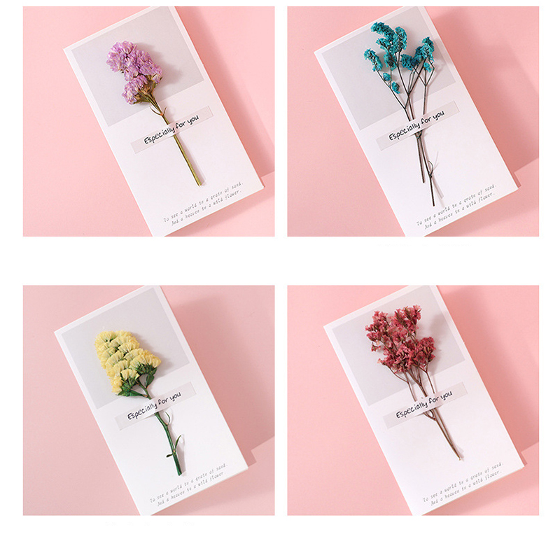 Diy Flowers message card for day and birthday card greeting collapsible thank you greeting card