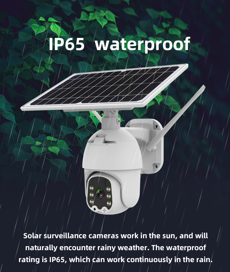 SOLAR Camera 1080P 4G Sim Card /WiFi Solar PTZ Speed Dome Camera Security Low Power Consumption Wireless CCTV Outdoor Cam