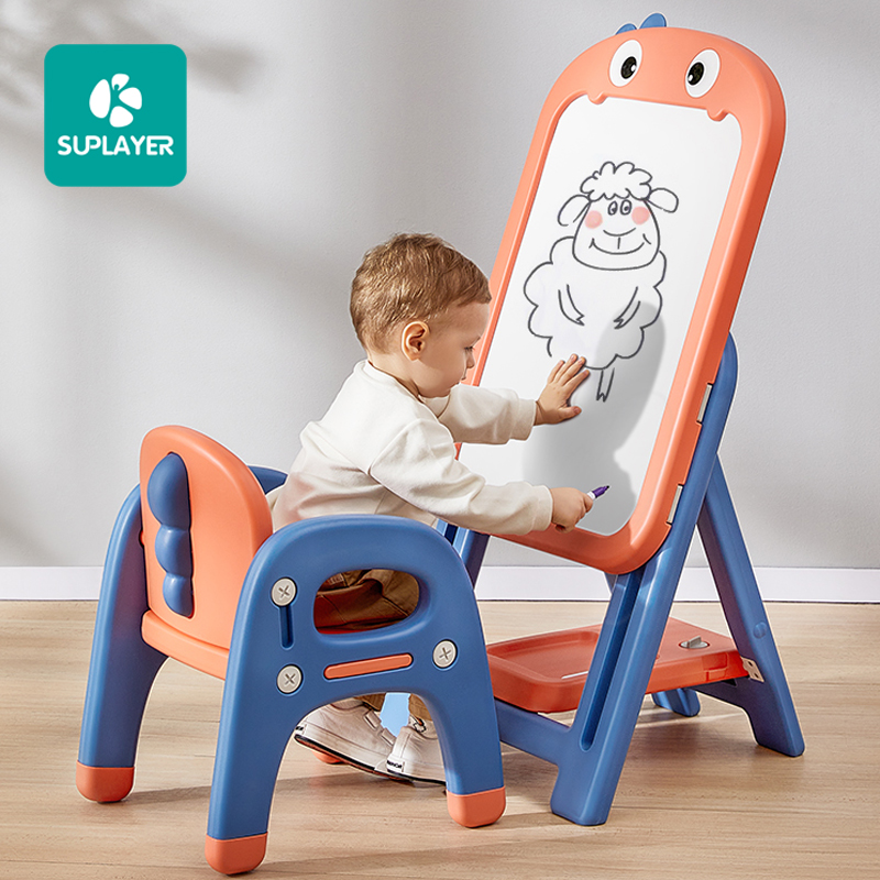Hot sale doodle mini dry erase foldable books children easel magic kids painting writing magnetic white board stand drawing Toys
