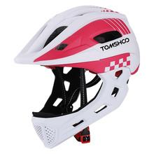 TOMSHOOH Детский велосипедный шлем с полным лицом, детский безопасный шлем для катания на скейтборде, роликовый шлем, спортивная защита головы ...(Китай)