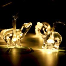 Светильник Polar-bear s декоративный светильник s 10 светодиодный тип батареи 1,65 м декоративный светильник в горшках украшение для дома(Китай)