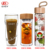 Oem thick bottom portable tea drinking bottle double wall glass water bottle to go with infuser  for water