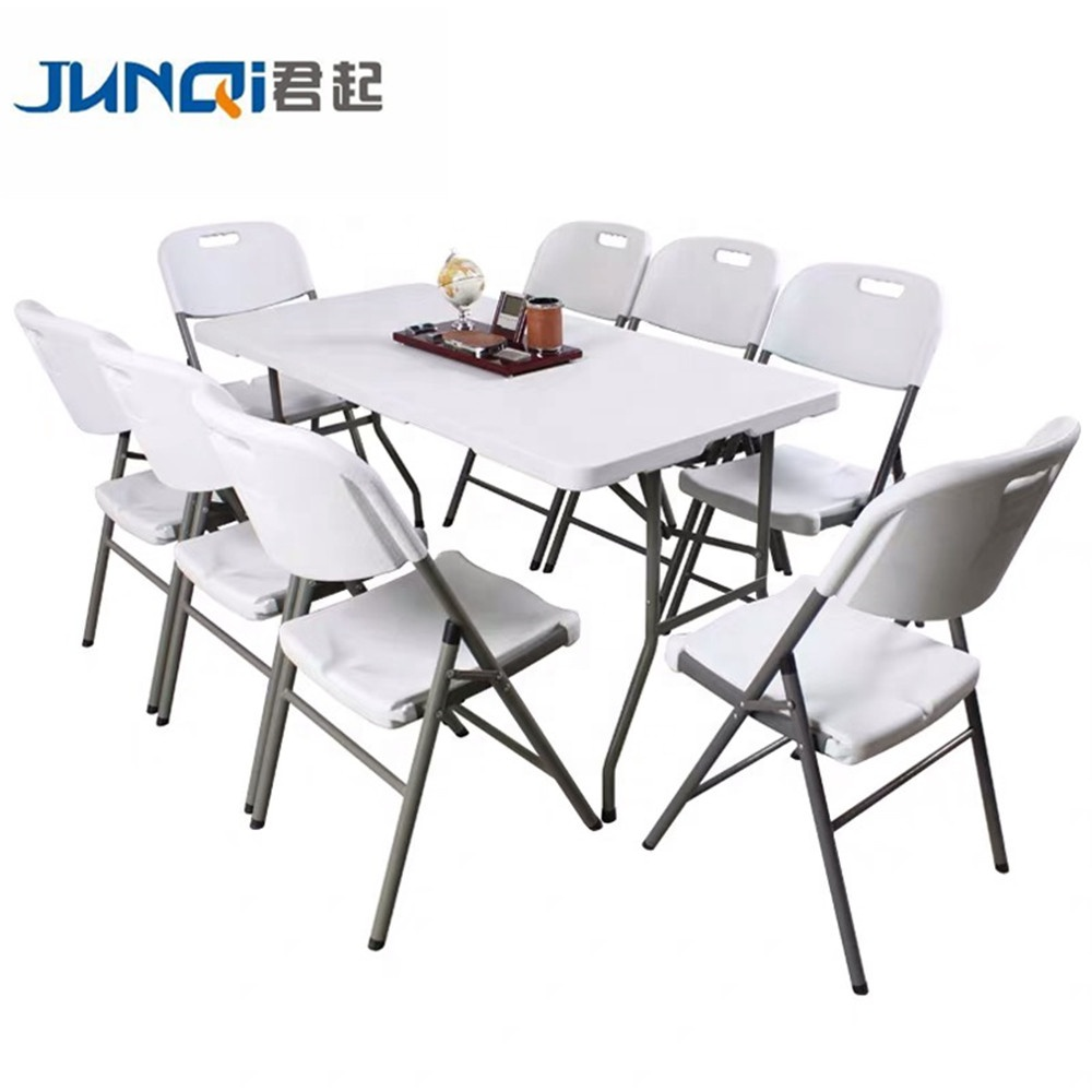 Rental Plastic Banquet Folding Chairs and Tables for wedding party