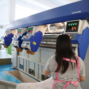 New design hot sale laundry plant used bed sheet feeder commercial washing machine factory automatic washing machine