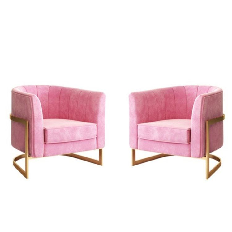 Light luxury single person sofa web celebrity modern Nordic simple creative American living room bedroom leisure chair
