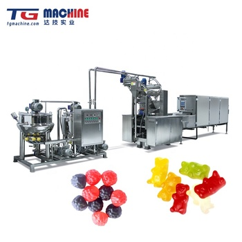 GD80Q Small Carrageenan/Pectin/Gelatin Gummy Jelly Candy Production Line