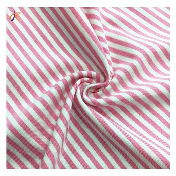 Wholesale soft organic cotton knitted striped clothing T-shirts baby fabric 100% cotton yarn-dyed knitwear