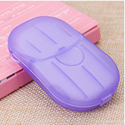 Travel disposable soap pieces packed in a box soap sheets paper portable hand washing tablet