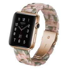 Ремешок для часов из полимера для apple Watch 5, 4, ремешок 42 мм, 38 мм, прозрачный стальной ремешок iwatch серии 5, 4, 3, 2/1, 44 мм, 40 мм(Китай)