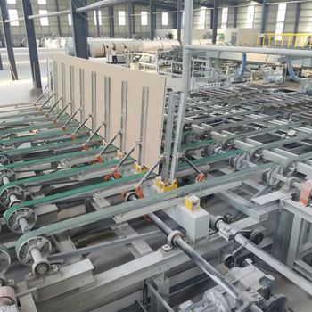 Dongyue gypsum board production line, gypsum board making machine