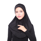 Fashion Muslim Hijab Islamic Women Black Instant Head Scarf Full Cover Inner Coverings Hats
