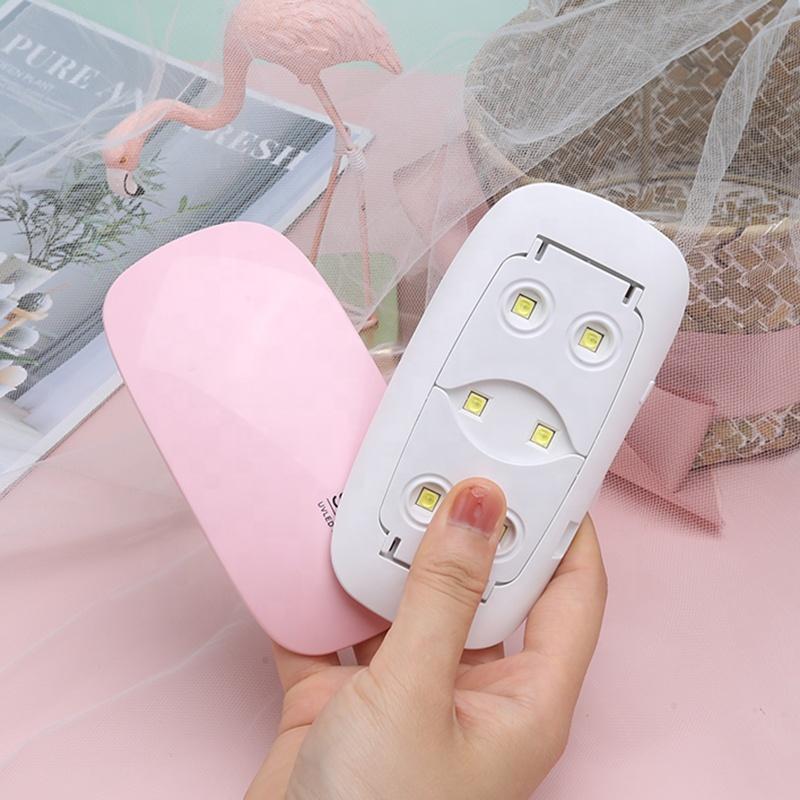 SUN MIN 6W nail lamp dryer machine uv led nail lamps portable micro usb cable drying lamp