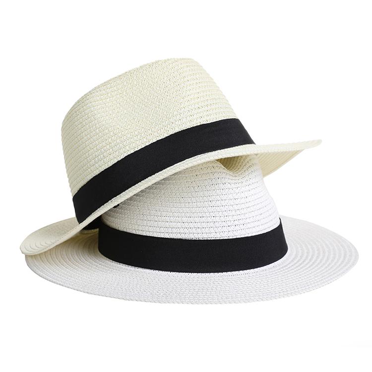 Designer Travelling Vogue Quality Wide Brim Fine Flat Straw Boater Sun Hat