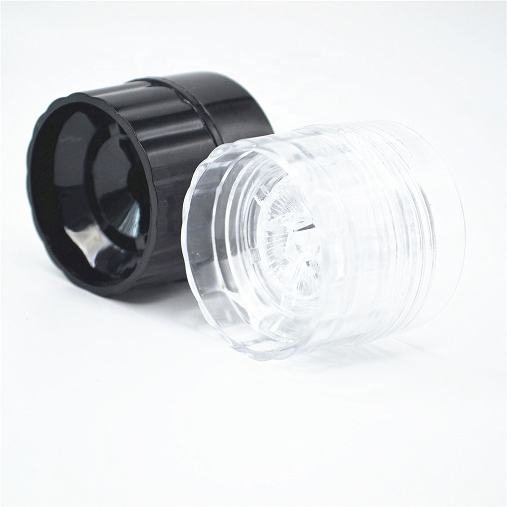 wholesale manual disposable plastic spice salt grinder pepper mill cap with 100ml glass jar