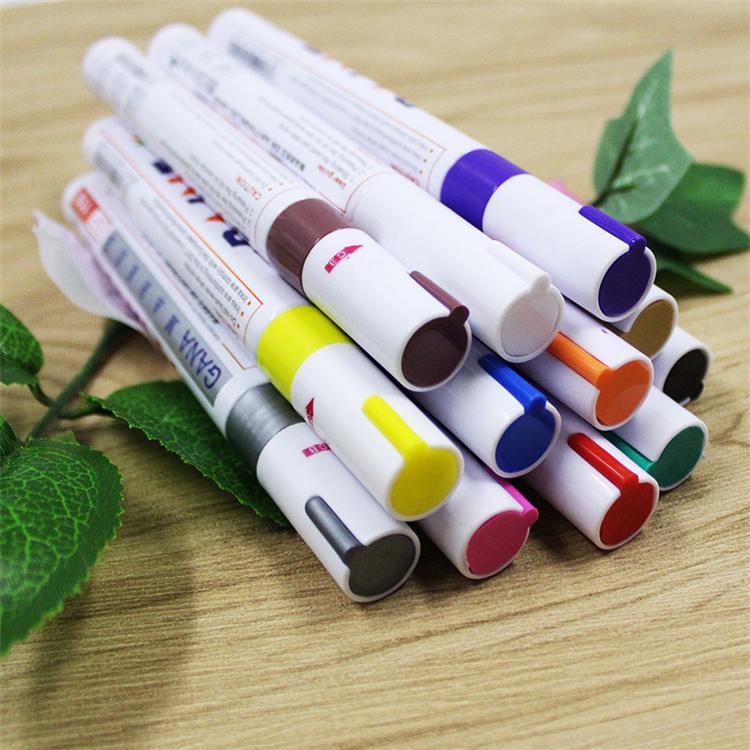6 color permanent paint marker pen