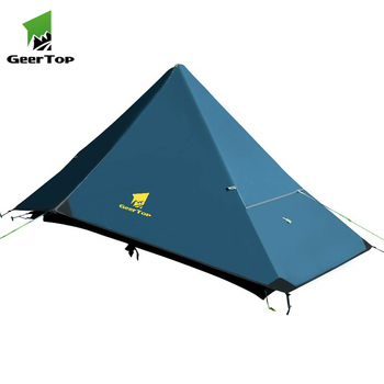 Geertop Four Seasons 1 Person Folding Camping Hiking Teepee Pyramid Tent